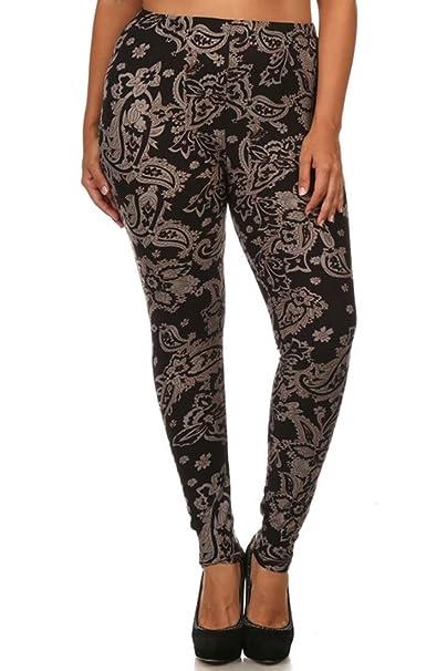 Niobe Womens Plus Size Fashion Design Leggings Baroque Me At