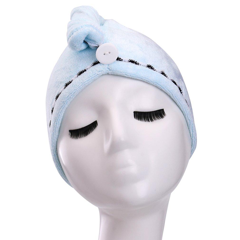 YYXR Microfiber Hair Drying Towel Ultra Absorbent Twist Hair Turban Drying Cap Hair Wrap (Rose) J8027 J8027-rose