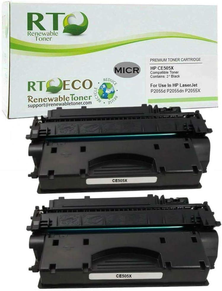 2 Pack CE505X 05X High Yield Black Toner Cartridge For HP LaserJet P2055dn P2055
