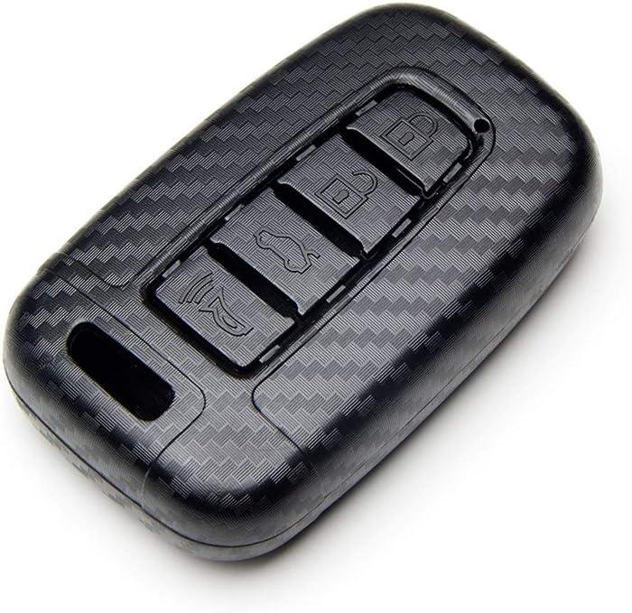 TANGSEN Smart Key Fob Case for Hyundai Azera Elantra GT EQUUS Genesis Coupe Santa FE Sonata Tucson Veloster KIA Borrego Forte Optima Rio Sorento Soul SPORTAGE 4 Button Keyless Entry Remote Cover