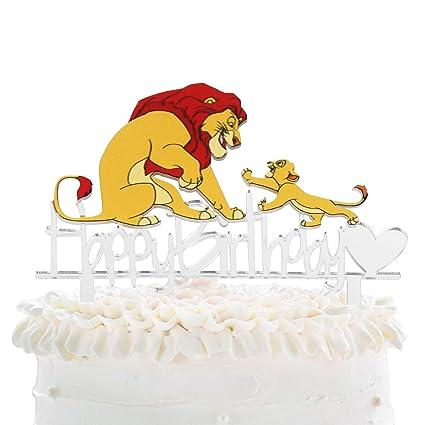 Awesome Cartoon Lion Simba Happy Birthday Cake Topper Disney The Lion Funny Birthday Cards Online Bapapcheapnameinfo