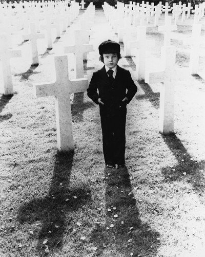 The Omen Harvey Stephens spooky image in graveyard as Damien Horror 8x10 Promotional Photo