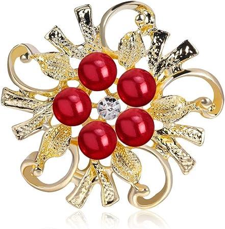 Jolies Broches Rose Fleur Broche Pin Pour Femmes Mariage Banquet robe bijoux