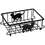 Lily's Home Cat Lovers Metal Wire Organizer Basket for Kitchen, Pantry, Cabinet, Bathroom and Office (Small)