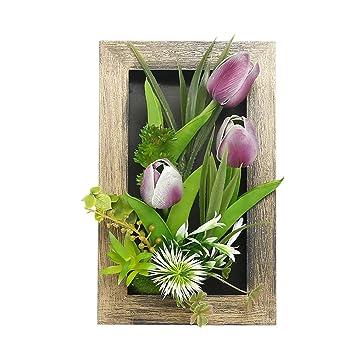 10 x Kunstblumen Deko Schmuck Künstliche Tulpen Oster Pflanzen Home Dekor Flower