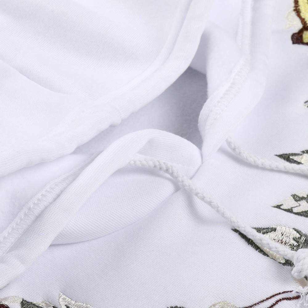 LuckyGirls Sudadera con Capucha para Hombre Manga Larga Oto/ño Invierno Bordado de Floral Deportivo Blusa Ch/ándal Camisas Casual