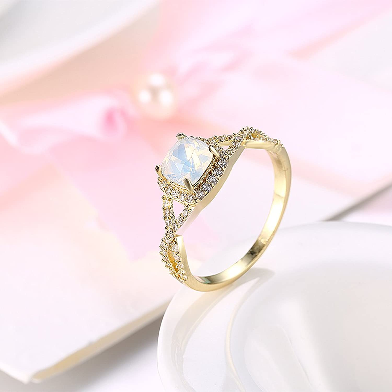 Women Fashion Wedding Jewellery Engagement Ring Sets (Yellow- size 8 ...