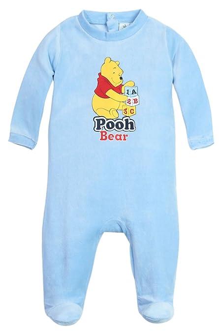 Pijama para bebé, diseño de The Pooh Winnie Pooh bear azul y amarillo