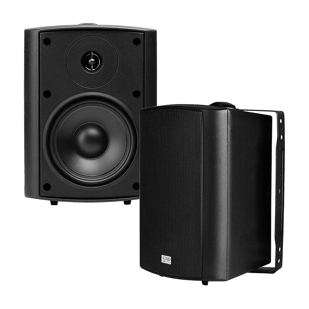 OSD Audio 70V Commercial Patio Speaker Pair- Indoor/Outdoor Stereo, Black - AP520Transformer by OSD Audio