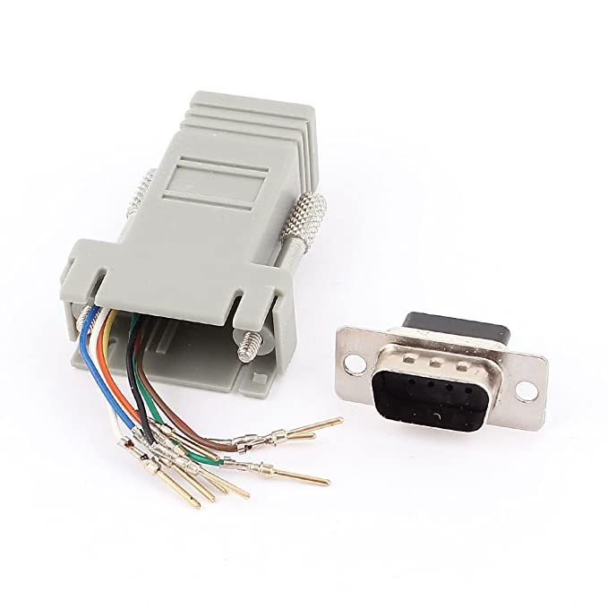 Serial DB9 9Pin RS232 Female to RJ45 Female F//F Module Adapter Connector New