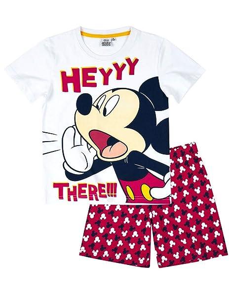 Mickey Mouse - Pijama dos piezas - para niño blanco/rojo 4 años