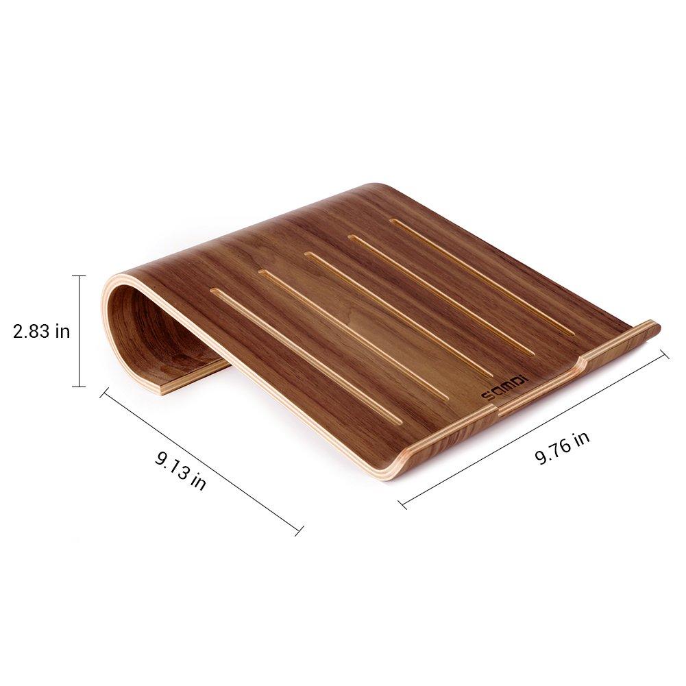 Black Walnut SAMDI Wooden Laptop Stand//Wooden Cooling Stand Holder//Ventilated Laptop Stand Bracket Dock for MacBook Air//Pro Retina Laptop PC Notebook