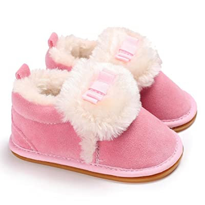 Baby Cotton Boots,Cywulin Plush Moccasins Soft Sole Non-slip Velvet Snow Shoes