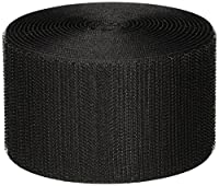 "VELCRO 1006-AP-PB/H Black Nylon Woven Fastening Tape, Hook Type, Standard Back, 2"" Wide, 10' Length"
