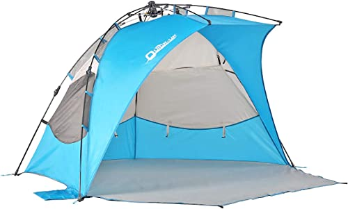 Pop Up Beach Tent Sun Shelter,Instant Beach Shade Umbrella,with SPF 50 UV Protection