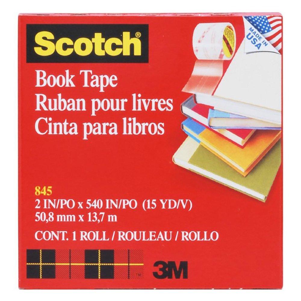 Scotch 8452 Book Tape, 3'' Core Size, 2'' x 15 Yards, Clear by Scotch (Image #1)