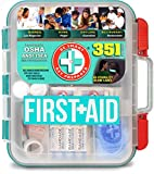 Be Smart Get Prepared 351 Piece First Aid Kit, Exceeds OSHA ANSI 2015
