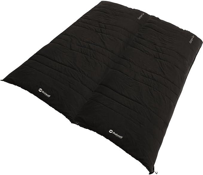 Outwell Saco de Dormir Camper Lux, Black, 235 x 90 cm: Amazon.es: Deportes y aire libre