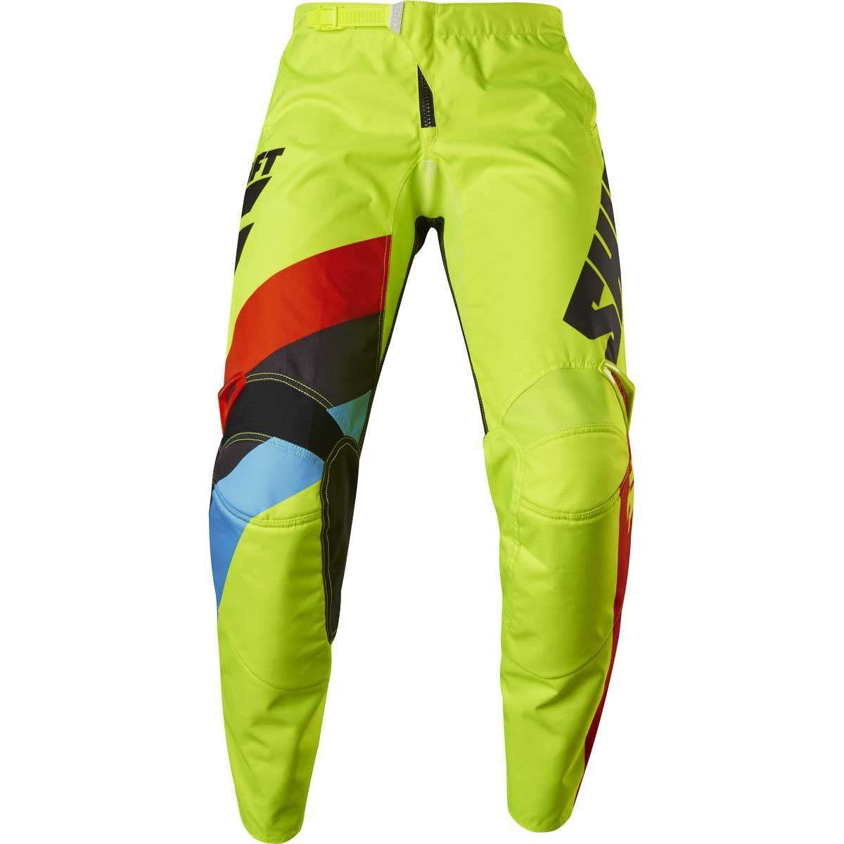 Shift Racing Whit3 Label Tarmac Youth Boys MX Motorcycle Pants - Flo Yellow/Size 24