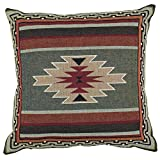 Black Forest Decor Southwest Sampler Red and Green Pillow