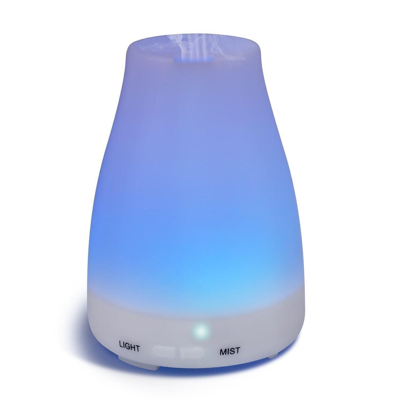 Amazon.com : Difusor De Aceites Esenciales Para Aromaterapia - Con Luz LED - Humidificador Ultrasónico : Beauty