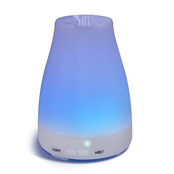 Difusor De Aceites Esenciales Para Aromaterapia - Con Luz LED - Humidificador Ultrasónico
