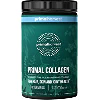 Primal Harvest - Collagen - Hydrolyzed Collagen Supplement - 30 Servings - Promote Healthy, Glowing Skin, Maintain Strong Bones & Joints, Balance Gut & Liver Health