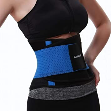 983061e8ba544 Amazon.com   Fantasy Makeup Tools Kit Body Shaping Belt Postpartum Support  Recovery Belt Fitness Workout Slimming Belly Trimmer Girdles(Blue XL)    Beauty