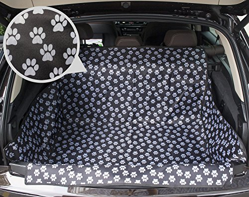 HAOCOO Pet Seat Cover Waterproof and Washable for Cars, SUV, Vans & Trucks?Cute Paw Prints? (Paw Car Mats compare prices)