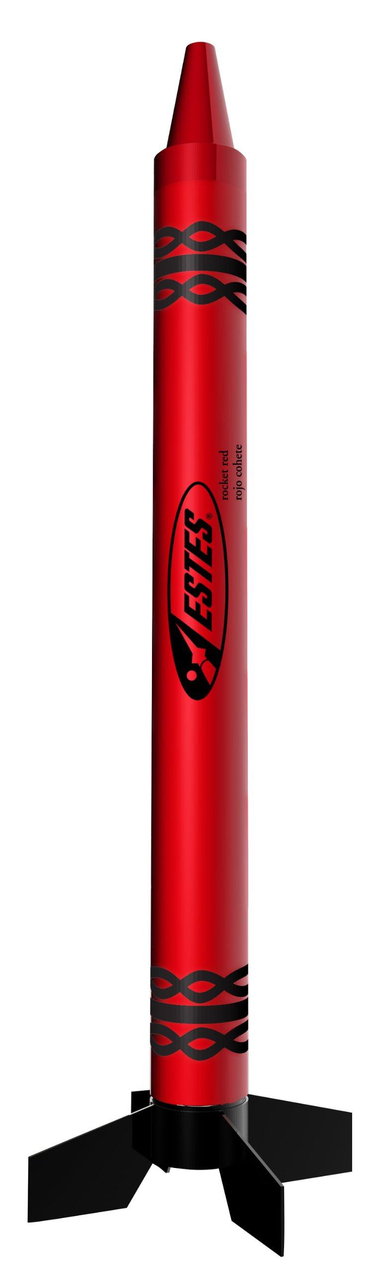Estes Rocket Crayon Model Rocket Kit, Red