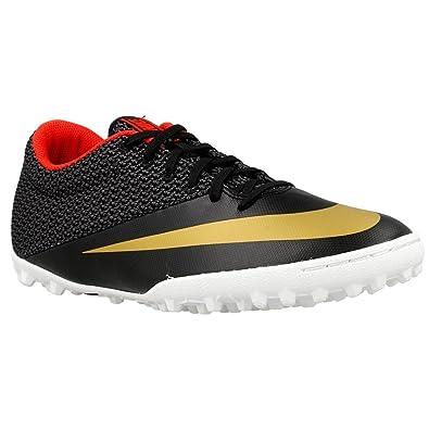bdc5bfbb7 Nike Men s s MercurialX Pro TF Football Boots Black Dorado Blanco  (Blk Mtllc Gld-Chllng Rd-White) 10.5 UK  Amazon.co.uk  Shoes   Bags