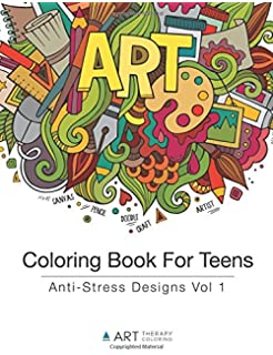 coloring book for teens anti stress designs vol 1 coloring books for teens - Coloring Books For Teens