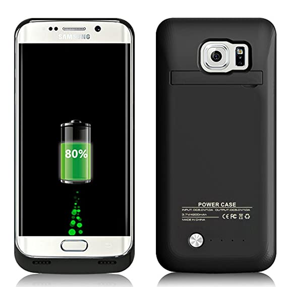 info for 50d1b aec61 COOFUN Samsung Galaxy S6 Edge Battery Case 4200mAh Ultra Slim Rechargeable  Portable External Backup Battery Pack-Charger Cover-Protective Case Power  ...