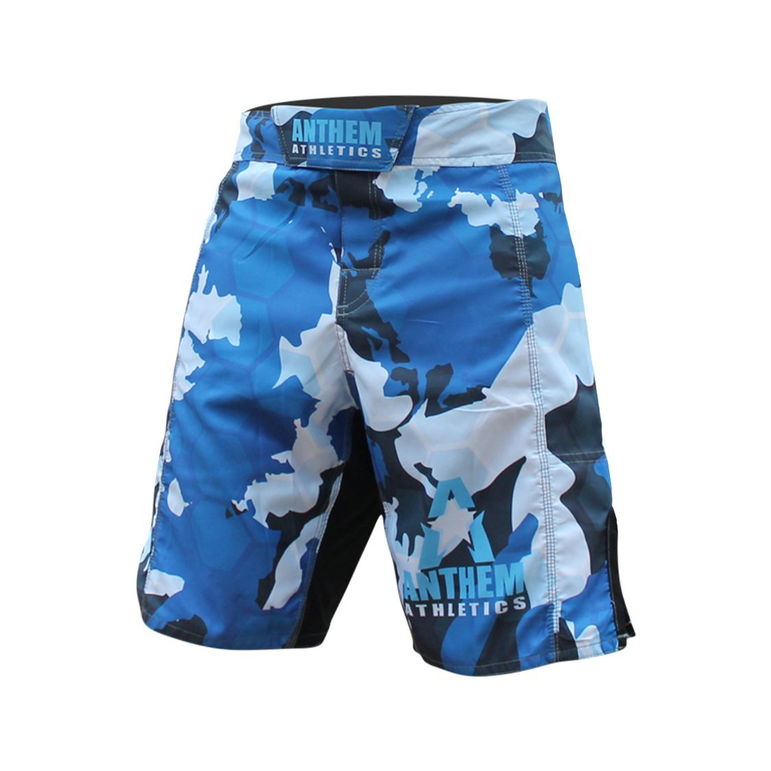 Anthem Athletics RESILIENCE Fight Shorts - Blue Camo Hex - 30'' by Anthem Athletics