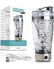 Elektrischer Proteinshaker ideal für Muskelaufbau, Abnehmen/Diät und allgemeine Fitness - Klumpenfreie Shakes für Eiweiss- und Diätpulver - Schnelle Ladung und einfache Reinigung (USB, 450 ml)
