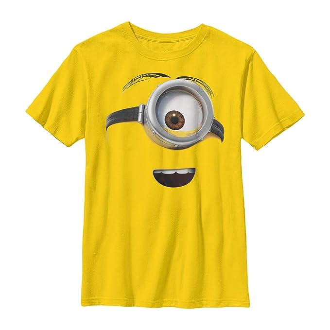 feb64dffb Amazon.com: Despicable Me Boys' One Eyed Minion Costume T-Shirt ...