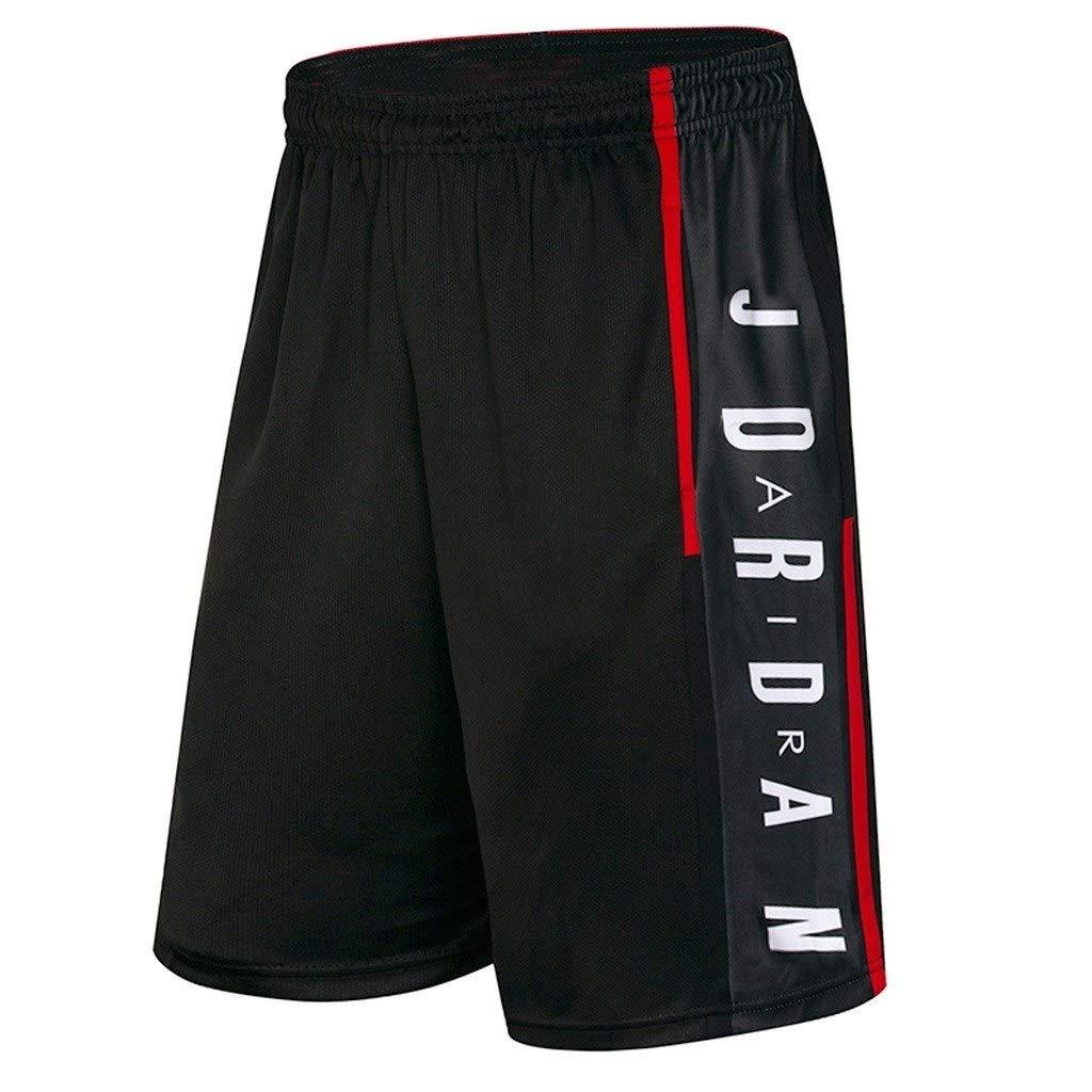 WLDSH Pantalones cortos deportivos Pantalones cortos for hombres Pantal/ón suelto de baloncesto de seda de hielo de siete puntos for mujer Pantalones cortos de secado r/ápido Correr de secado r/ápido Cor