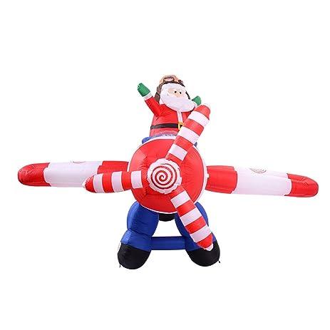 amazon com christmas xmas santa claus airplane 8 ft airblown