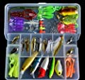 Noarks ® Fishing Lures Sets - Fishing Lures Hard and Soft Bait Kit - Minnow, VIB, Popper, Crank, Pencil, Spoon, Soft Baits