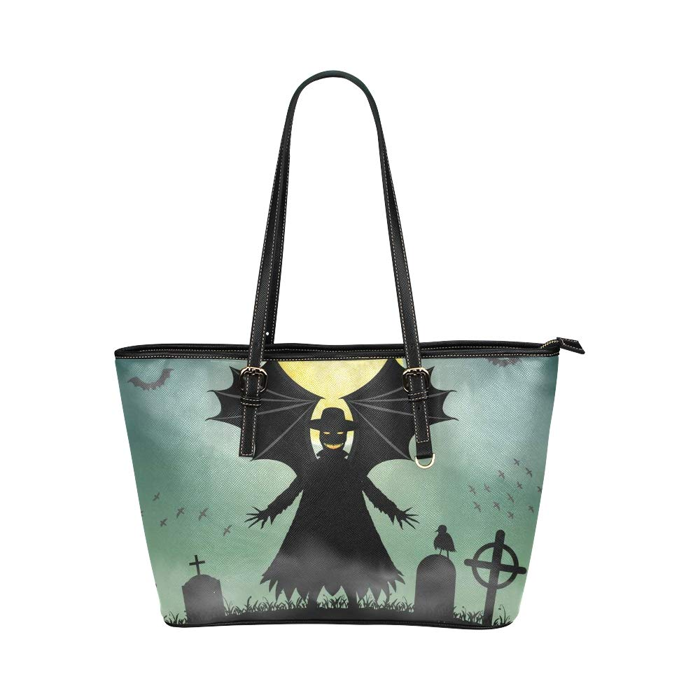 Happy Halloween Fancy Party Large Soft Leather Portable Top Handle Hand Totes Bags Causal Handbags With Zipper Shoulder Shopping Purse Luggage Organizer For Lady Girls Womens Work