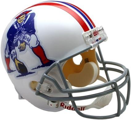 Medium Riddell NFL New England Patriots Full Size Throwback Revolution Speed Helmet Red