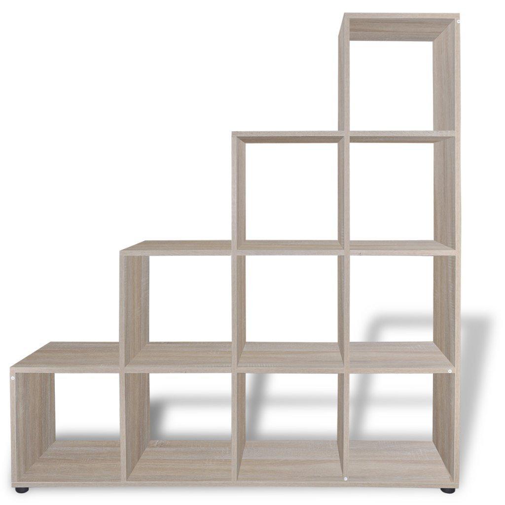 Festnight 55.9'' Staircase Bookcase Display Shelf, Oak by FESTNIGHT