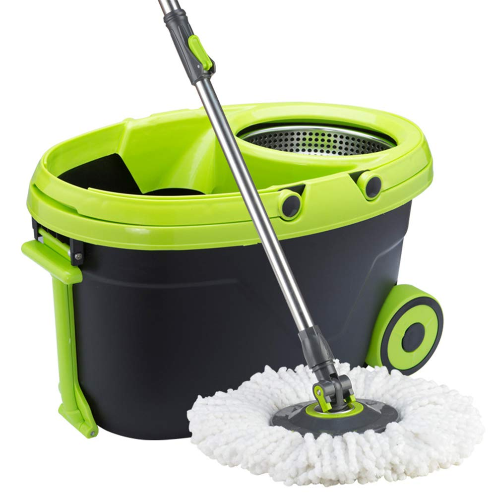 Zhanghaidong Spin Mop Bucket System Stainless Steel 360 Spin Mop Mop Good God Drag Hand Wash Household Tow Lazy Mop Double Drive Rotating Mop Bucket