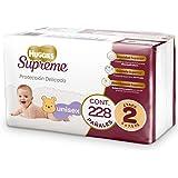 Huggies Supreme Pañal Desechable para Bebé, Etapa 2 Unisex, Caja con 228 Piezas, Ideal para Bebés de 5 a 7.5 kg