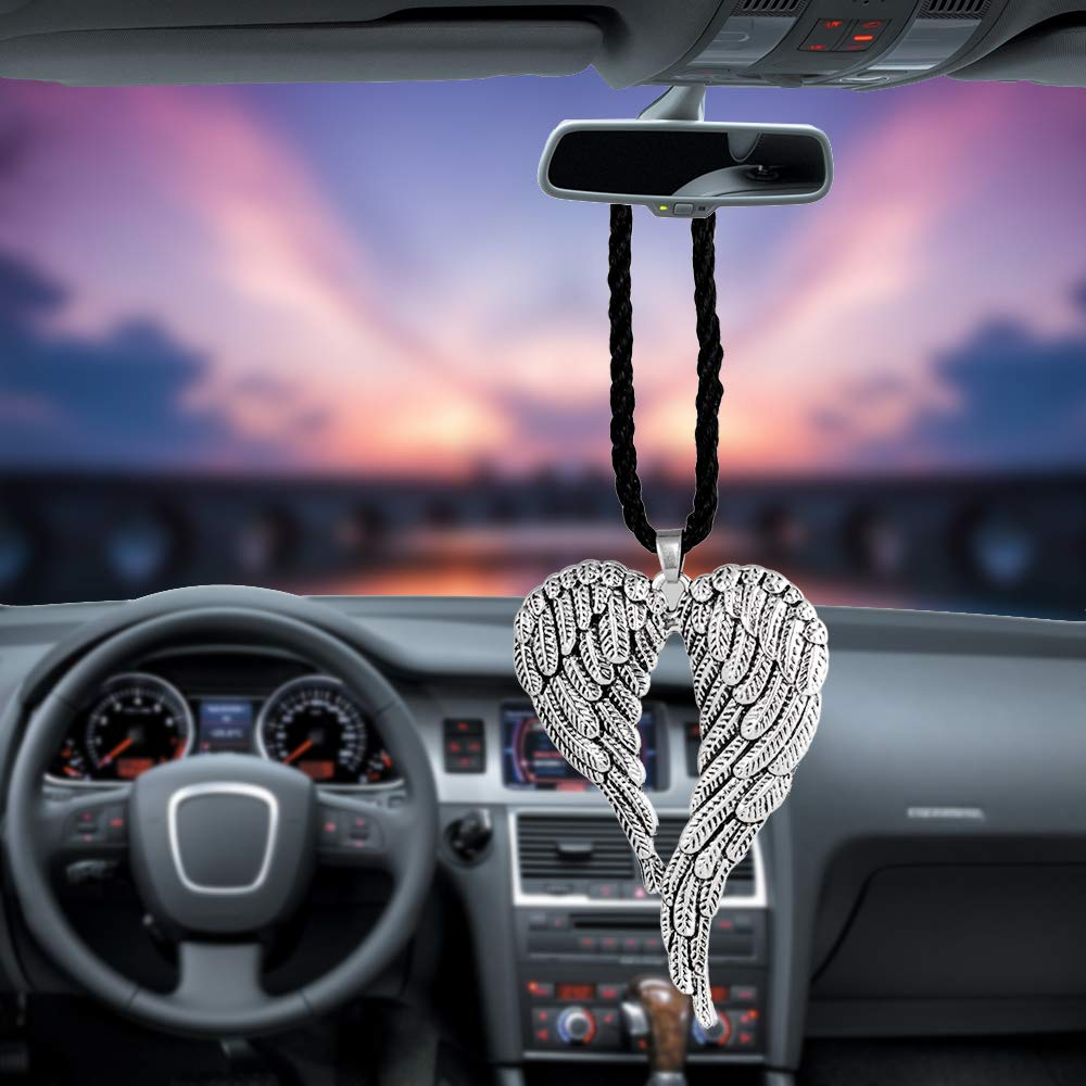 Angel Wing BEMOST Angel Wing Cute Dog Violin Car Pendant Auto Interior Rear View Mirror Decoration Accessories Styling