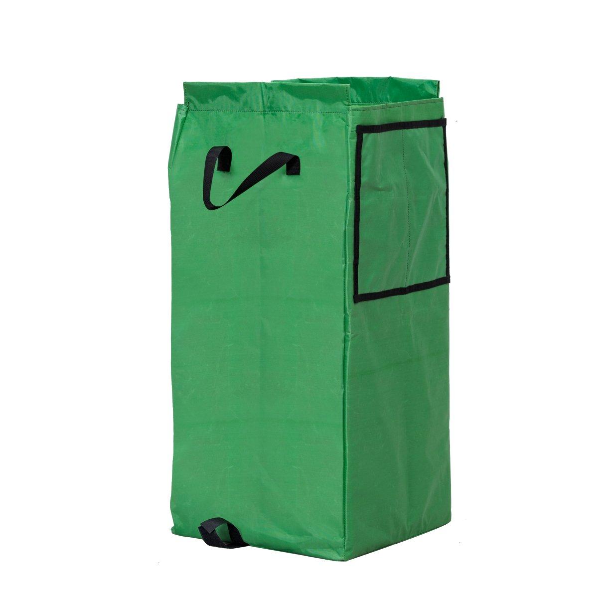 Goplus Portable Gardening Lawn Leaf Bag Detachable Tote Cart Multifunctional Folding Basket w/ Pocket Green by Goplus (Image #7)