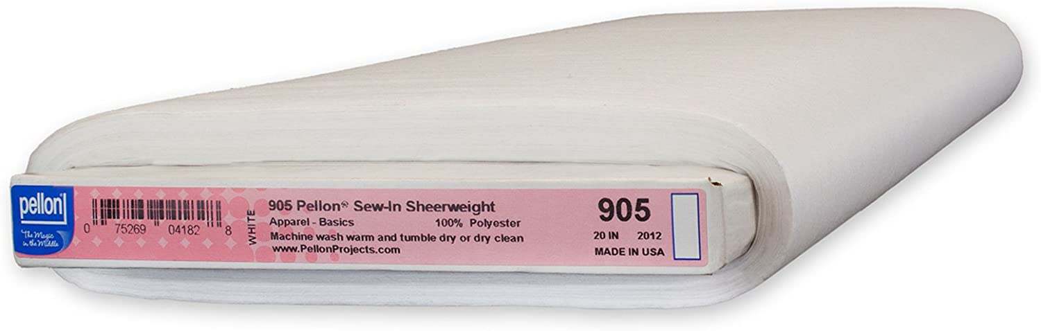 20 x 30 yd White Pellon 905 Sew-in Sheerweight Bolt