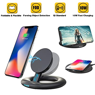 Mix Hero Wireless Charger Stand Pad Portable Adjustable Qi 10W 7.5W Charging Compatible