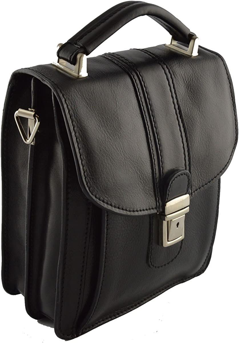 Man Leather Bag Color Black