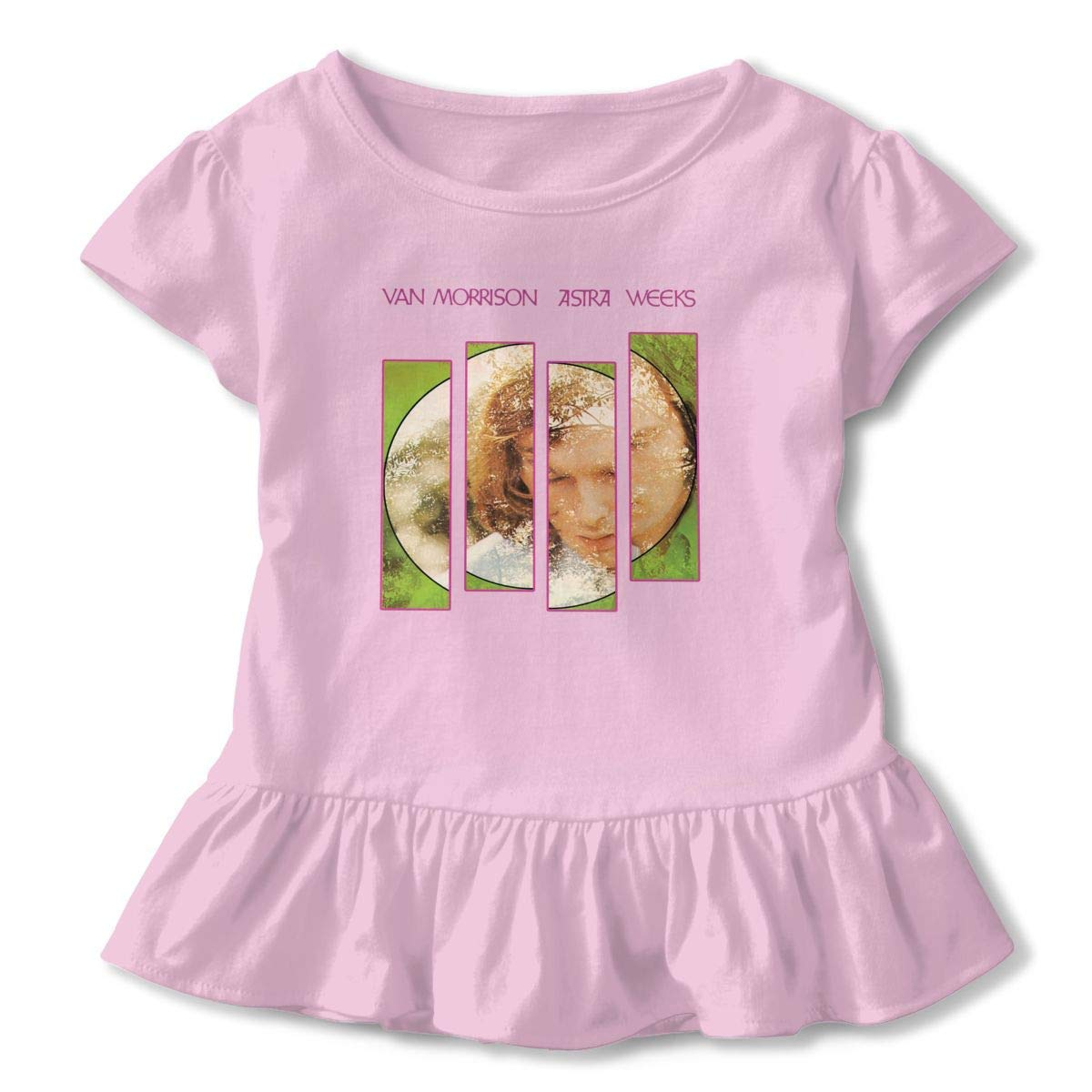 Kid T Shirt Van Morrison Astral Weeks Cotton Music Bands 3D Tee Baseball Ruffle Short Sleeve Cotton Shirts Top for Girls Kids